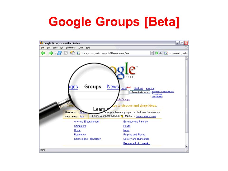 Google Groups [Beta]